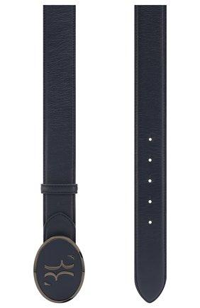 Мужской кожаный ремень BILLIONAIRE темно-синего цвета, арт. I20A MVA0570 BLE029N | Фото 2