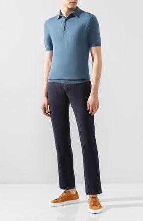 Мужской шерстяные брюки BERWICH темно-синего цвета, арт. SC/1/MZ0260B | Фото 2