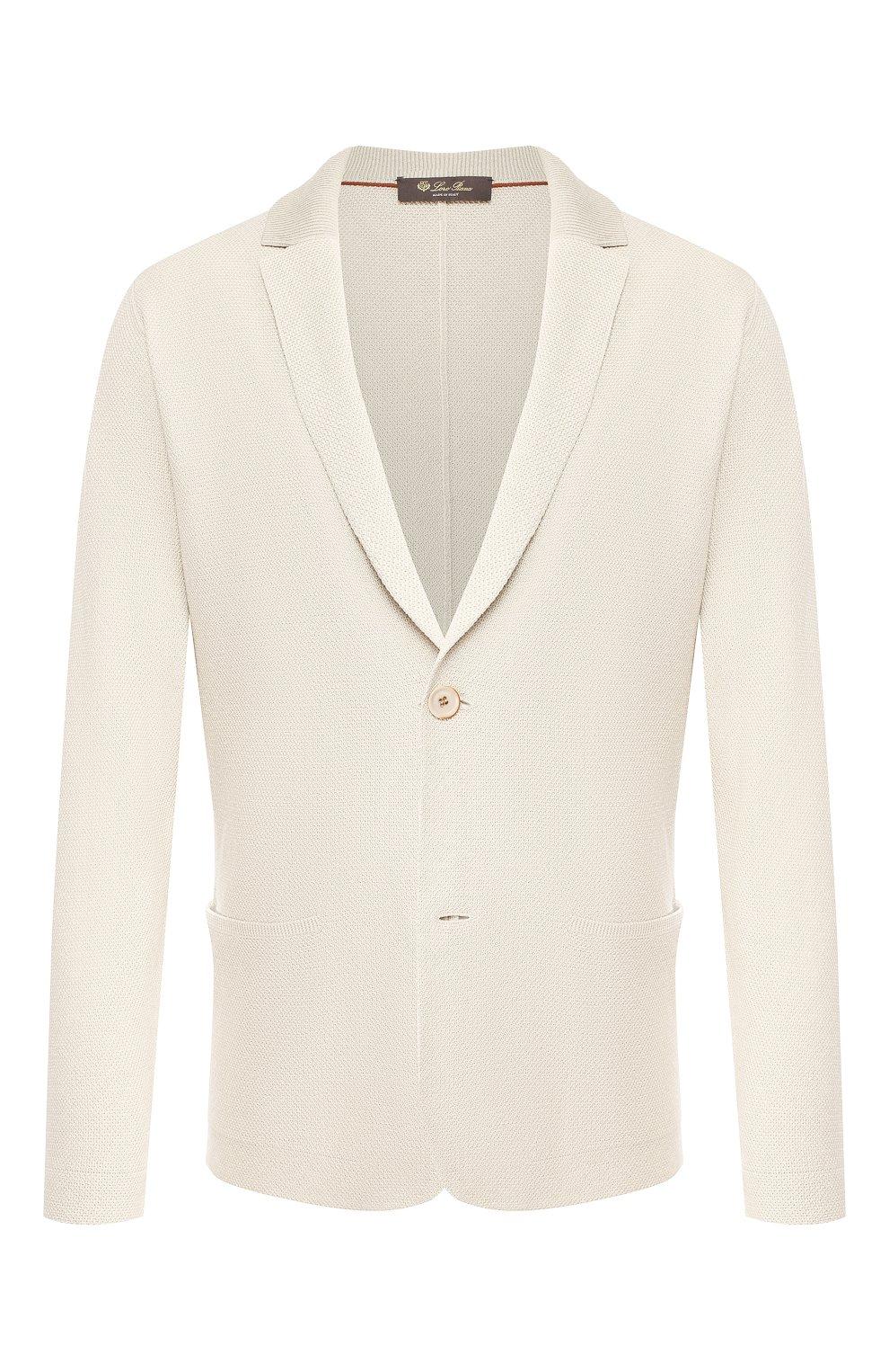 Мужской пиджак из смеси шелка и льна LORO PIANA светло-бежевого цвета, арт. FAL0061 | Фото 1