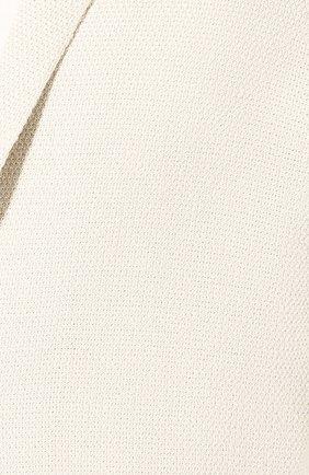 Мужской пиджак из смеси шелка и льна LORO PIANA светло-бежевого цвета, арт. FAL0061 | Фото 5