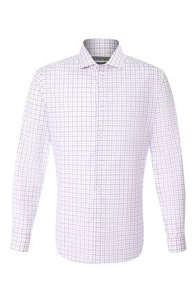 Мужская хлопковая сорочка CORNELIANI фиолетового цвета, арт. 85P002-0111509/00 | Фото 1