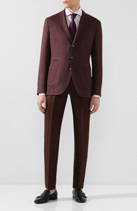 Мужская хлопковая сорочка CORNELIANI фиолетового цвета, арт. 85P002-0111509/00 | Фото 2