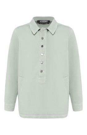 Мужская джинсовая рубашка JACQUEMUS светло-зеленого цвета, арт. 205DE05/41530 | Фото 1