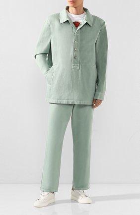 Мужская джинсовая рубашка JACQUEMUS светло-зеленого цвета, арт. 205DE05/41530 | Фото 2