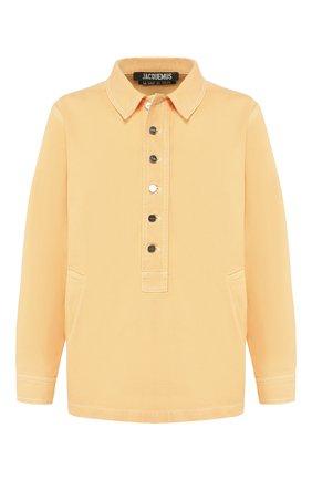 Мужская джинсовая рубашка JACQUEMUS оранжевого цвета, арт. 205DE05/41270 | Фото 1