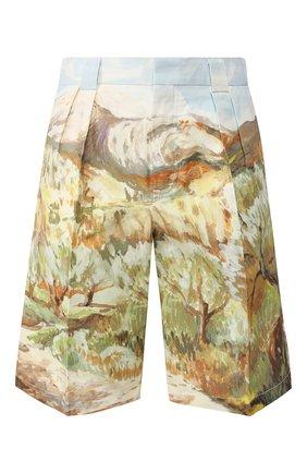 Мужские хлопковые шорты JACQUEMUS разноцветного цвета, арт. 205PA07/2603P | Фото 1