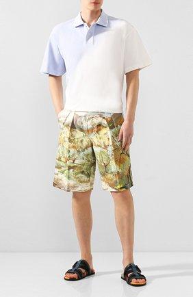Мужские хлопковые шорты JACQUEMUS разноцветного цвета, арт. 205PA07/2603P | Фото 2