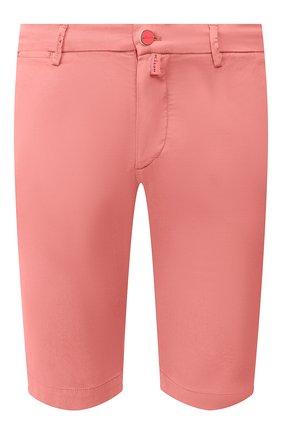 Мужские шорты из смеси льна и хлопка KITON розового цвета, арт. UFBLACJ07S51 | Фото 1 (Принт: Без принта; Материал внешний: Лен, Хлопок; Длина Шорты М: До колена; Мужское Кросс-КТ: Шорты-одежда; Стили: Кэжуэл)
