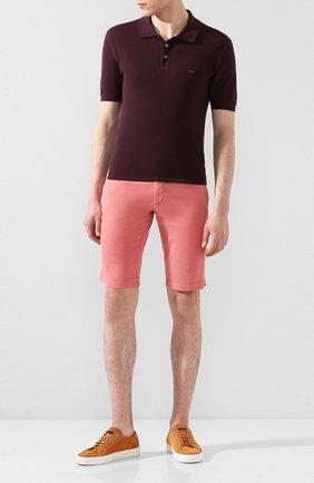 Мужские шорты из смеси льна и хлопка KITON розового цвета, арт. UFBLACJ07S51 | Фото 2