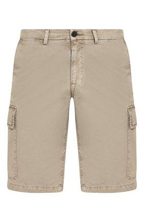 Мужские хлопковые шорты 7 FOR ALL MANKIND бежевого цвета, арт. JSJJT970BI | Фото 1