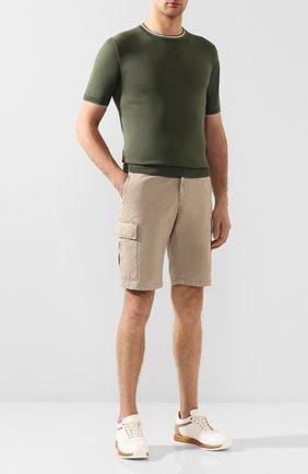 Мужские хлопковые шорты 7 FOR ALL MANKIND бежевого цвета, арт. JSJJT970BI | Фото 2