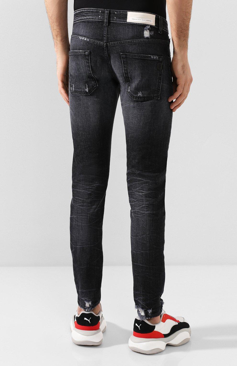 Мужские джинсы PREMIUM MOOD DENIM SUPERIOR темно-серого цвета, арт. S20 0310351641/PAUL | Фото 4
