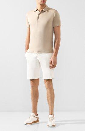 Мужские хлопковые шорты BERWICH белого цвета, арт. BER_MUDA/TS0001X | Фото 2
