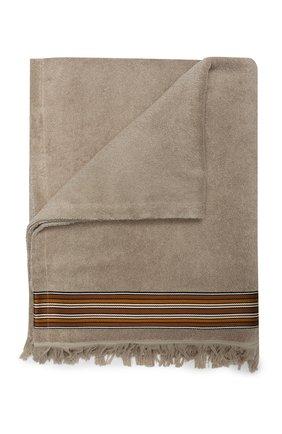 Мужские хлопковое полотенце LORO PIANA бежевого цвета, арт. FAI6077 | Фото 1