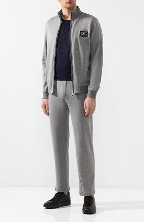 Мужской спортивный костюм из смеси хлопка и шелка BILLIONAIRE серого цвета, арт. I20C MJJ0203 BTE013N | Фото 1