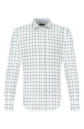 Мужская рубашка из смеси хлопка и льна BOSS зеленого цвета, арт. 50428458   Фото 1