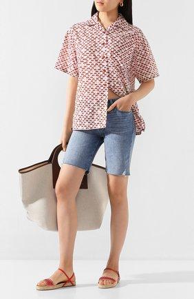 Женские джинсовые шорты PAIGE синего цвета, арт. 5247F72-7641 | Фото 2