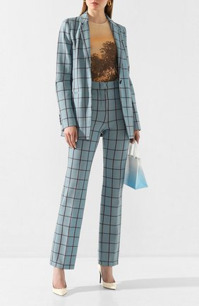 Женские брюки M MISSONI бирюзового цвета, арт. 2DI00117/2J001P | Фото 2