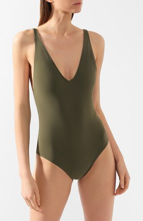 Женский слитный купальник TOTÊME зеленого цвета, арт. MELISSA 202-841-781 | Фото 2