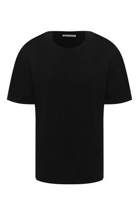 Женская хлопковая футболка ACNE STUDIOS черного цвета, арт. AL0119/W | Фото 1