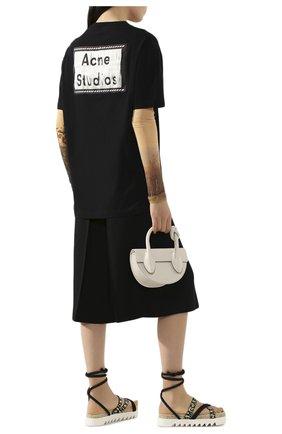Женская хлопковая футболка ACNE STUDIOS черного цвета, арт. AL0119/W | Фото 2