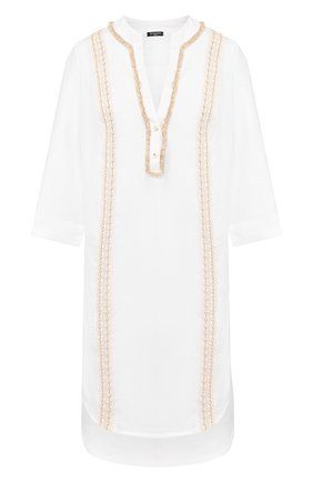 Женское льняная туника RITRATTI MILANO белого цвета, арт. 70863 | Фото 1