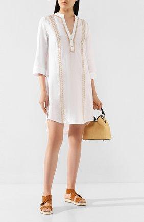 Женское льняная туника RITRATTI MILANO белого цвета, арт. 70863 | Фото 2