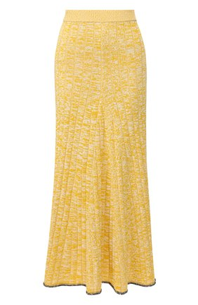 Женская юбка из смеси вискозы и хлопка JOSEPH желтого цвета, арт. JF004602 | Фото 1