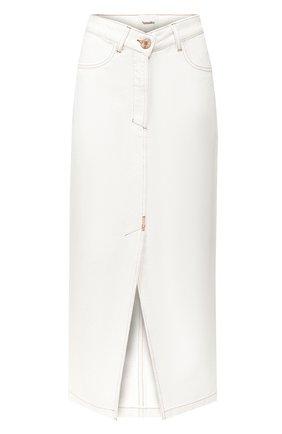 Женская джинсовая юбка NANUSHKA белого цвета, арт. ZEFIR_WHITE_RIGID DENIM | Фото 1