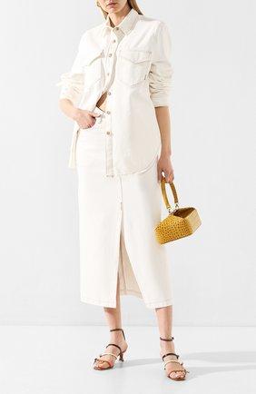 Женская джинсовая юбка NANUSHKA белого цвета, арт. ZEFIR_WHITE_RIGID DENIM | Фото 2