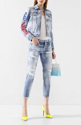 Женская джинсовая куртка DSQUARED2 синего цвета, арт. S73AM0334/S30309 | Фото 2