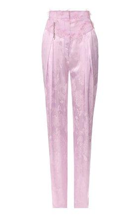 Женские брюки из вискозы ACT N1 светло-розового цвета, арт. PFP2012 | Фото 1