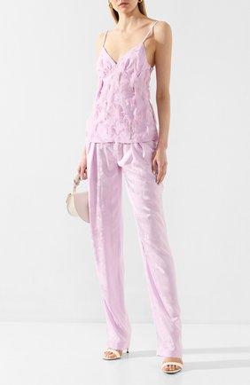 Женские брюки из вискозы ACT N1 светло-розового цвета, арт. PFP2012 | Фото 2