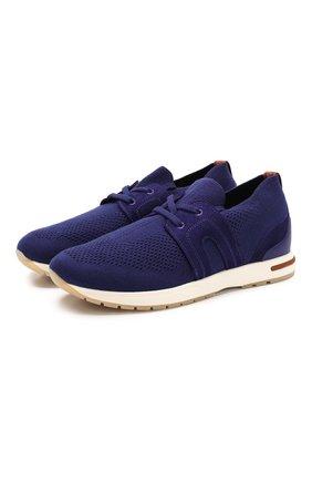 Женские текстильные кроссовки 360 lp walk LORO PIANA синего цвета, арт. FAL0096 | Фото 1