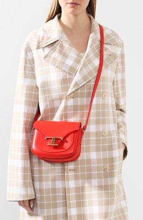 Женская сумка t singola TOD'S кораллового цвета, арт. XBWTSIC0000R0R | Фото 2