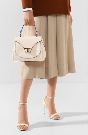 Женская сумка t singola TOD'S белого цвета, арт. XBWTSIJ0100001 | Фото 2