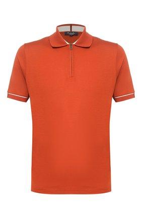 Мужское поло LORO PIANA оранжевого цвета, арт. FAI9780 | Фото 1