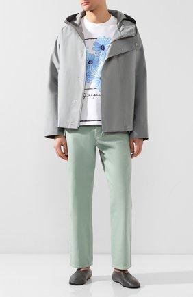 Мужская хлопковая куртка JACQUEMUS серого цвета, арт. 205BL02/16920 | Фото 2