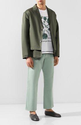 Мужской хлопковый пиджак JACQUEMUS хаки цвета, арт. 205JA02/02570 | Фото 2