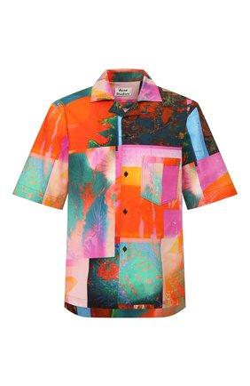 Мужская хлопковая рубашка ACNE STUDIOS разноцветного цвета, арт. BB0192/M | Фото 1