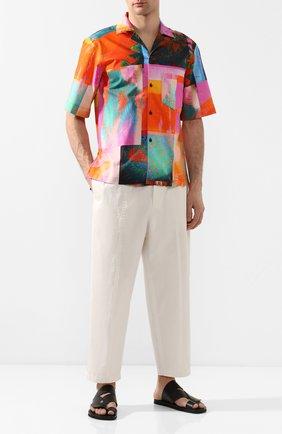 Мужская хлопковая рубашка ACNE STUDIOS разноцветного цвета, арт. BB0192/M | Фото 2