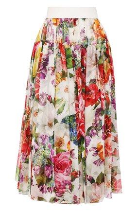 Женская шелковая юбка DOLCE & GABBANA разноцветного цвета, арт. F4BR3T/IS1AK | Фото 1
