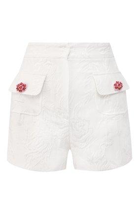 Женские шорты из смеси хлопка и шелка DOLCE & GABBANA белого цвета, арт. FTBRYT/FJM04 | Фото 1