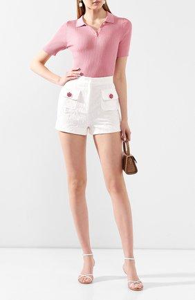 Женские шорты из смеси хлопка и шелка DOLCE & GABBANA белого цвета, арт. FTBRYT/FJM04 | Фото 2