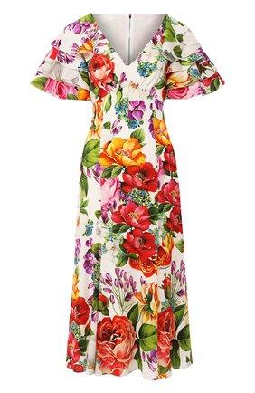 Женское шелковое платье DOLCE & GABBANA разноцветного цвета, арт. F6H2NT/FSAZM | Фото 1