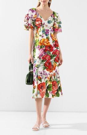 Женское шелковое платье DOLCE & GABBANA разноцветного цвета, арт. F6H2NT/FSAZM | Фото 2