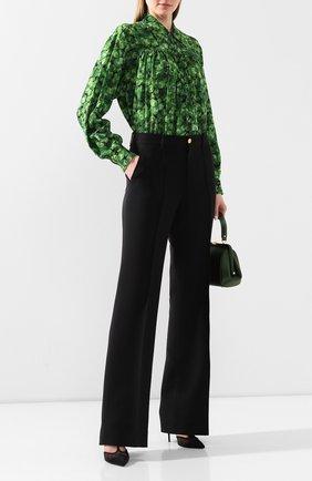 Женская шелковая рубашка DOLCE & GABBANA зеленого цвета, арт. F5M50T/IS1AW | Фото 2