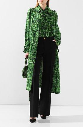 Женский шелковый плащ DOLCE & GABBANA зеленого цвета, арт. F0Z65T/IS1AW | Фото 2
