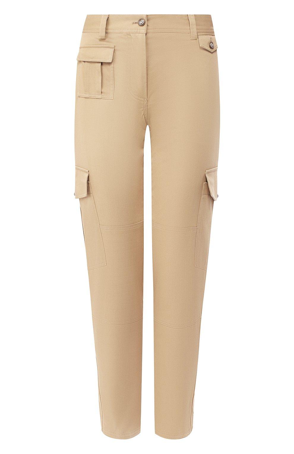 Женские хлопковые брюки DOLCE & GABBANA бежевого цвета, арт. FTBRPT/FUFGA | Фото 1