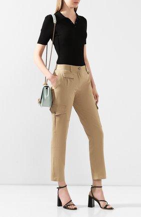 Женские хлопковые брюки DOLCE & GABBANA бежевого цвета, арт. FTBRPT/FUFGA | Фото 2